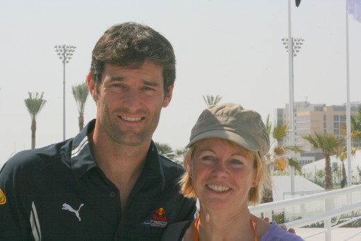 ...and with Mark Webber!
