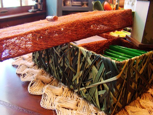Tea Box made of dried leaves
