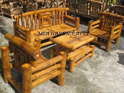 Chairs made of Bamboo