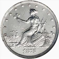 "This is the obverse side of the 1875 ""Liberty At The Seashore Coin""."