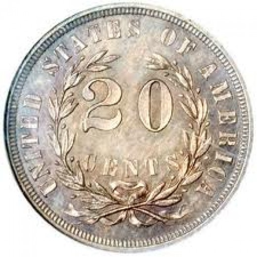 """This is the reverse side of the 1875 """"Liberty At The Seashore Coin""""."""