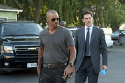 SHEMAR MOORE, DEREK MORGAN (LEFT) AND THOMAS GIBSON, AARON HOTCHNER, CRIMINAL MINDS.
