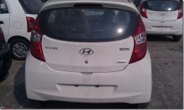 Hyundai Eon Rear Hatch door and bumper close up