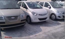 Front Fascia Of Hyundai Santro Vs Hyundai Eon Vs Hyundai i10