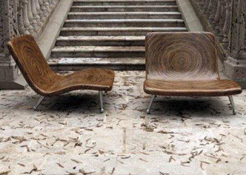 Clayton Tugonon has created these chairs made from Coconut Twig and Rattan Round Core.