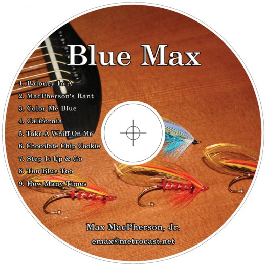 This is a proof of the disc imprint of my new, soon to be released album of 'totally blues' compositions