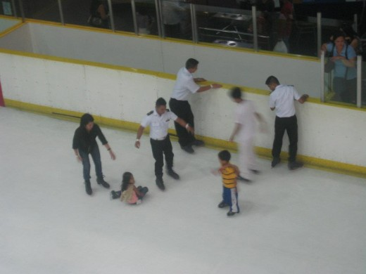 Learning how to do Ice Skating (All photos by Travel Man, Oct. 12, 2011)