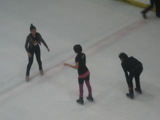 Professional skaters on pratice