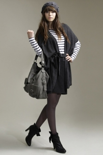 Cardigan Ensemble with Boots