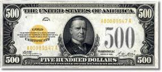 This is the 1928 $500 Gold Certificate.