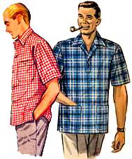 CASUAL CLOTHING FOR MEN IN THE 50'S.