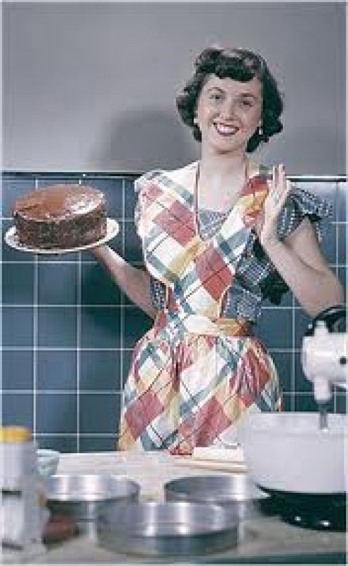 A HOUSE WIFE OF THE 50'S LOVED TO COOK AND BE THE PERFECTIONIST IN EVERY ITEM SHE BAKED.