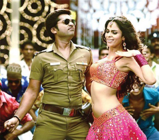 Mallika doing a Munni with Simbu