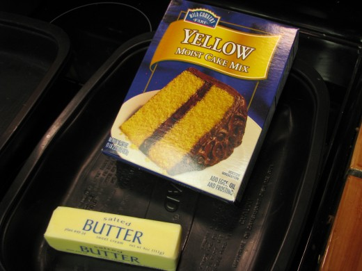 Cake Mix and Butter!