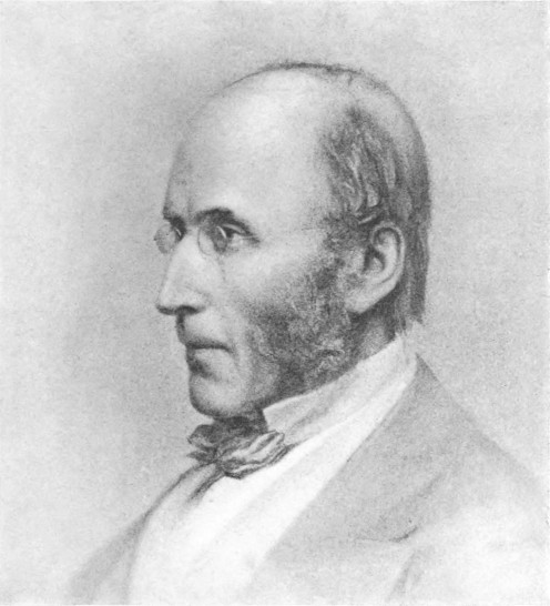 Portrait drawing, by Jane Fortescue Seymour, of William Butterfield, architect