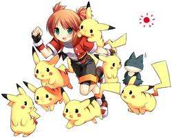 Pikachu is an electric-type Pokémon.  Use against water-types (but beware of ground-type moves!)