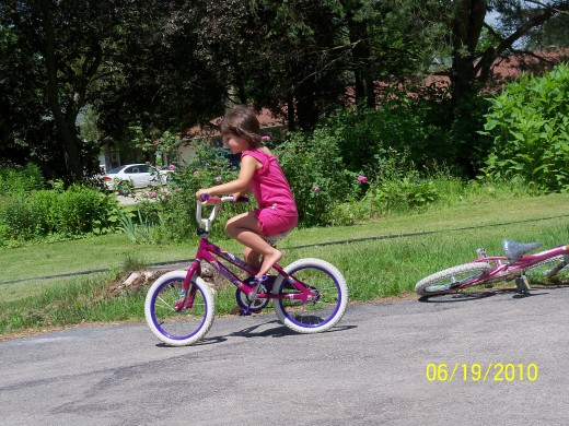 Riding a bike is a great way to spend time with the family while getting your exercising in.