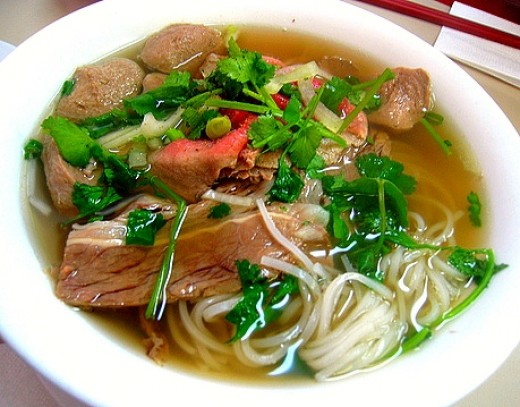 Many of the Classic Vietnamese soups have low calories and are rich in vegetables, with little fat