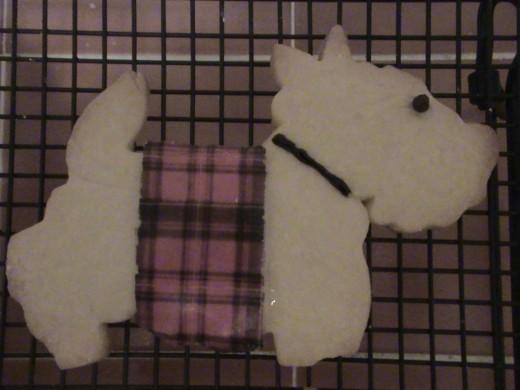 Scottie Dog Sweater Cookies