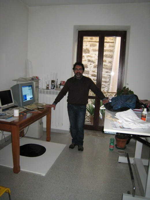 My cousin, Cosmo Guglielmi, in his architecture office.