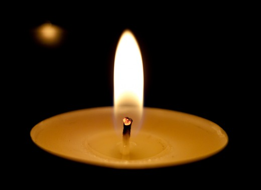 Using a candle flame is a common method of focusing the attention on our inner stillness.