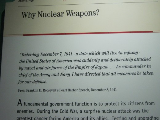 One of the plaques used to help explain the necessity of nuclear testing back in the 1950's.