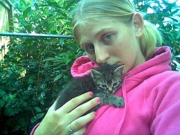 Erin with Rori when we first found her.