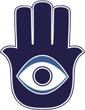 """A hamsa, which means """"five"""" in Arabic, also known as the """"Hand of Fatima"""""""