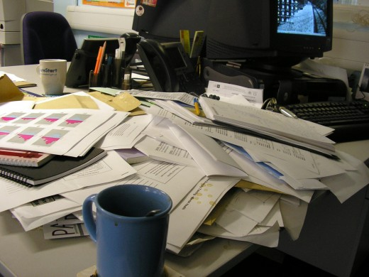 Work Clutter- main cause of stress!