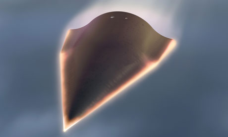 Falcon Hypersonic Technology Vehicle 2 with max speed 13,000 miles per hour