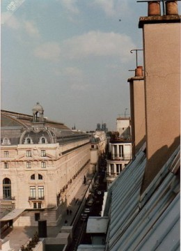Looking toward Notre Dame Cathedral from my window