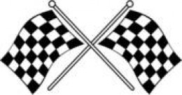 Checkered flag: the symbol of winning in our United States.