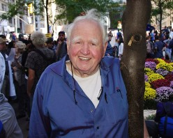 Malachy McCourt at Occupy Wall Street in Zuccotti Park/Liberty Park on Saturday, Day 23, October 8.