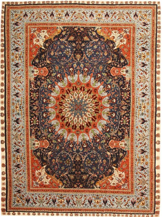 Antique Tabriz carpet #43571