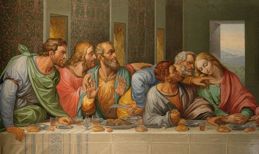 Details of Leonardo da Vinci's The Last Supper