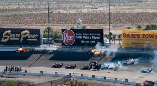 The crash at the Las Vegas Indy 300, October 16, 2011.
