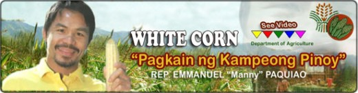 People's Champ and Representative Manny Pacquiao White Corn Endorsement in the Philippines