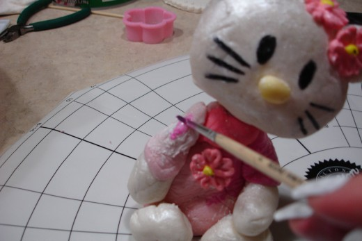 Painting a Hello Kitty