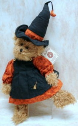 Halloween Witch Bear with Pointed Hat