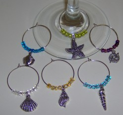 Beaded Wine Glass Hoops: Step by Step Instructions