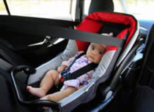 •Children younger than six months must be secured in a rearward facing restraint.
