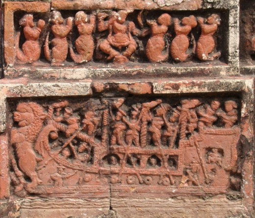 Exquisite terracotta work in Damodar temple 6