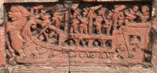 Exquisite terracotta work in Damodar temple 10