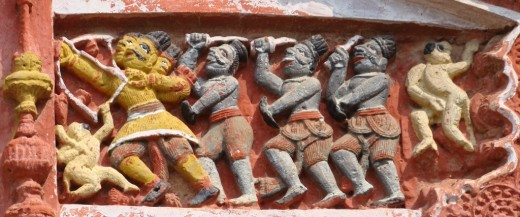 Exquisite terracotta work in Damodar temple 13