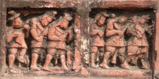 Exquisite terracotta work in Damodar temple 15