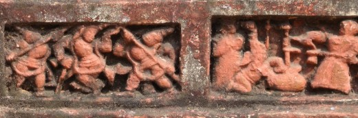 Exquisite terracotta work in Damodar temple 16