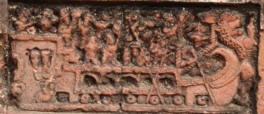 Exquisite terracotta work in Damodar temple 17