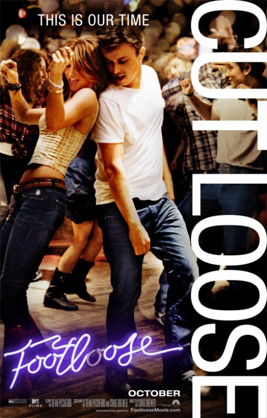 The 2011 remake of Footloose starring Julianne Hough and Kenny Wormald.