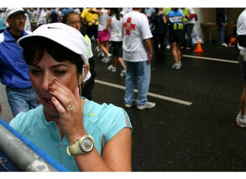 Jeanette was in a lot of pain at the end of the marathon