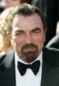 TOM SELLECK with goatee. And looking very stately.